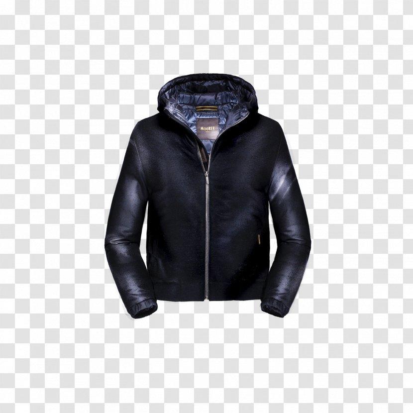 Leather Jacket Product - Moorer Transparent PNG
