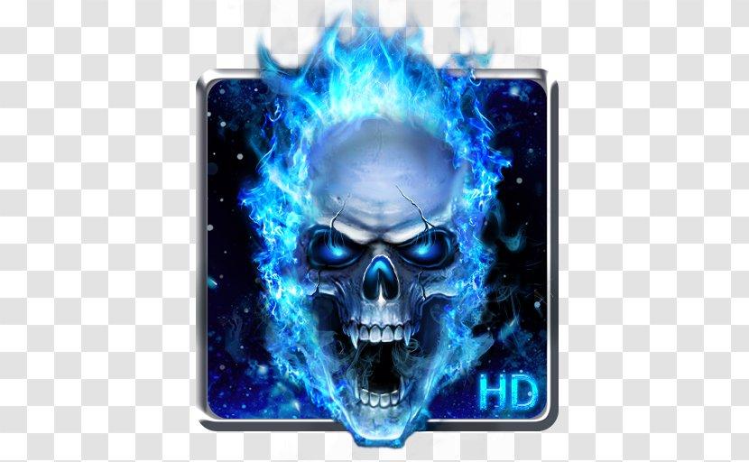 Human Skull Symbolism Flame Death Desktop Wallpaper Electric Blue Transparent Png