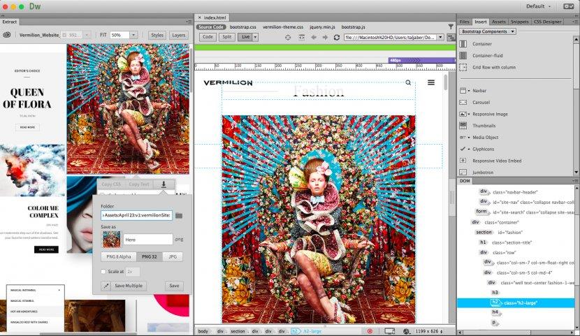 Responsive Web Design Development Adobe Dreamweaver Creative Cloud Software Transparent Png