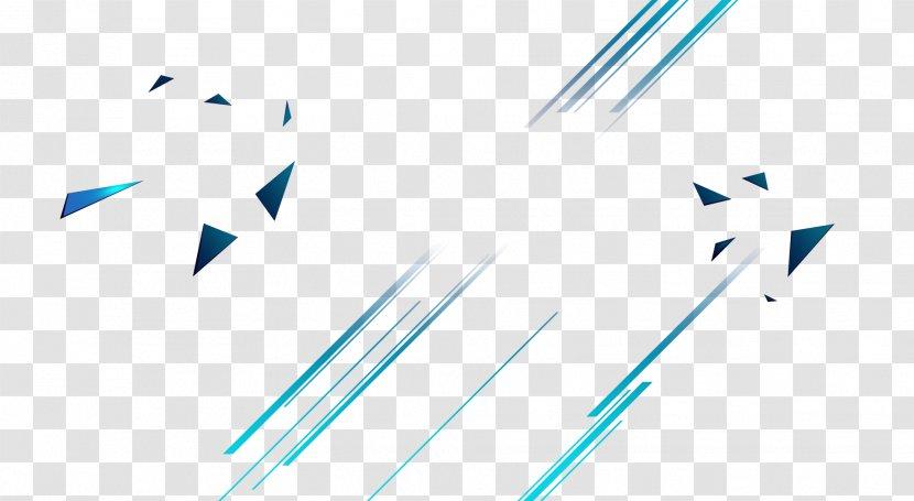 Cool Lines Geometry Color - Blue Transparent PNG