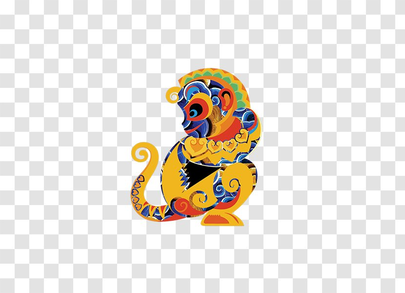 Monkey Chinese New Year - Cartoon Creative Transparent PNG