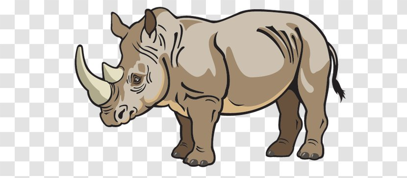 Fauna Of Africa Baby Jungle Animals Lion Clip Art - Rhinoceros - Cliparts African Transparent PNG