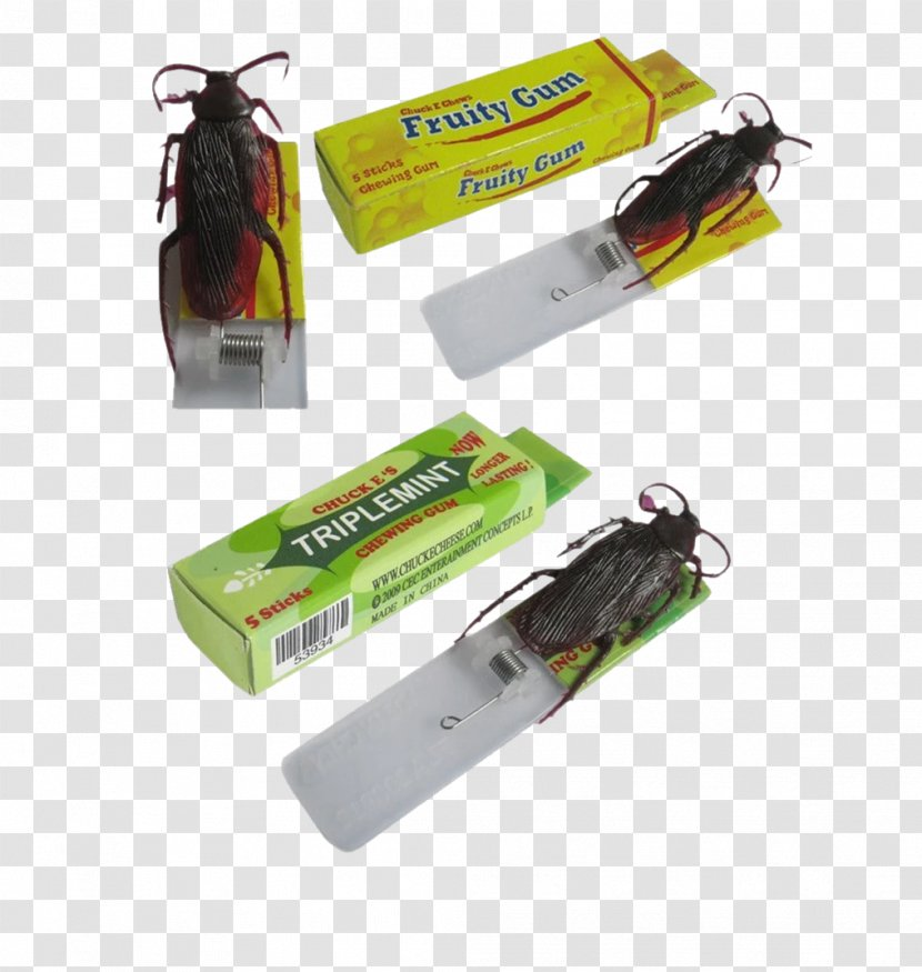 Chewing Gum Cockroach Toy Shocking Joke - Fool's Day Prank Transparent PNG