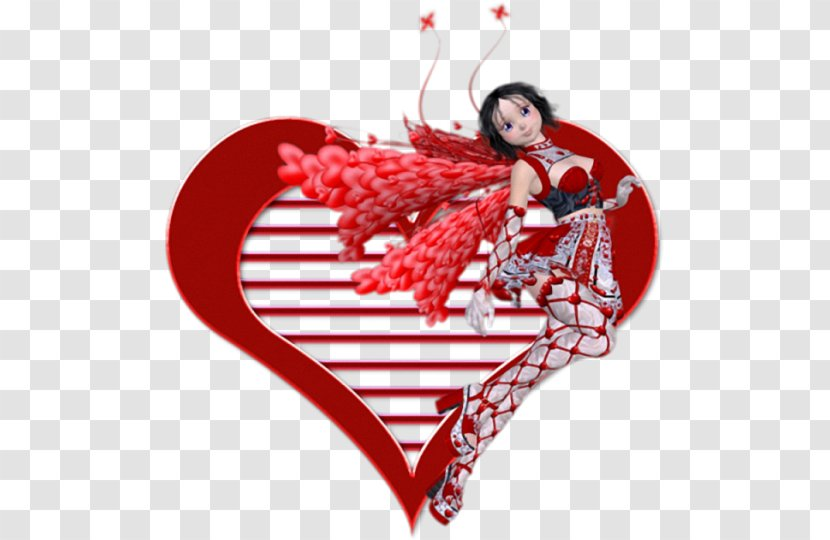 Valentine's Day Character Heart - Watercolor Transparent PNG
