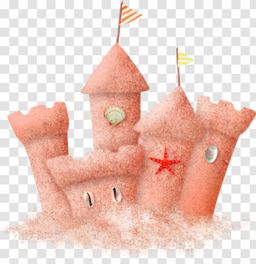 Sand Art And Play Beach Clip - Brown Cartoon Castle Decorative Pattern Transparent PNG