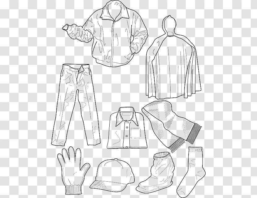 Colouring Pages Coloring Book Winter Clothing Children S Paper Doll Kids Clothes Transparent Png Transparent Png