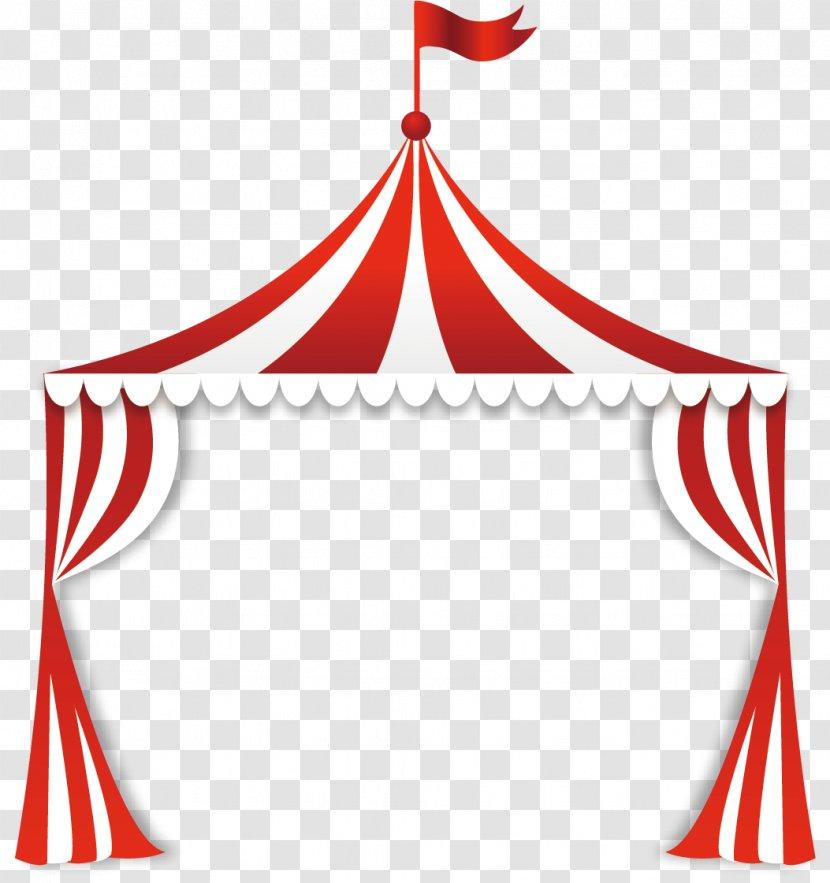 Circus Tent Clip Art - Red Transparent PNG