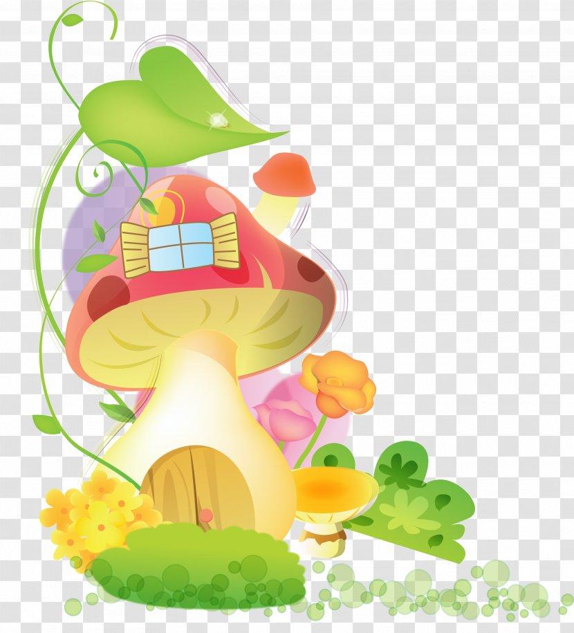 Desktop Wallpaper Mushroom House Clip Art Paperfall Garden Transparent Png