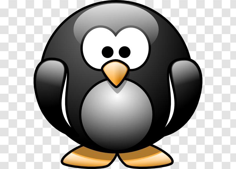 Baby Jungle Animals Penguin Cartoon Clip Art - Pinguin Transparent PNG