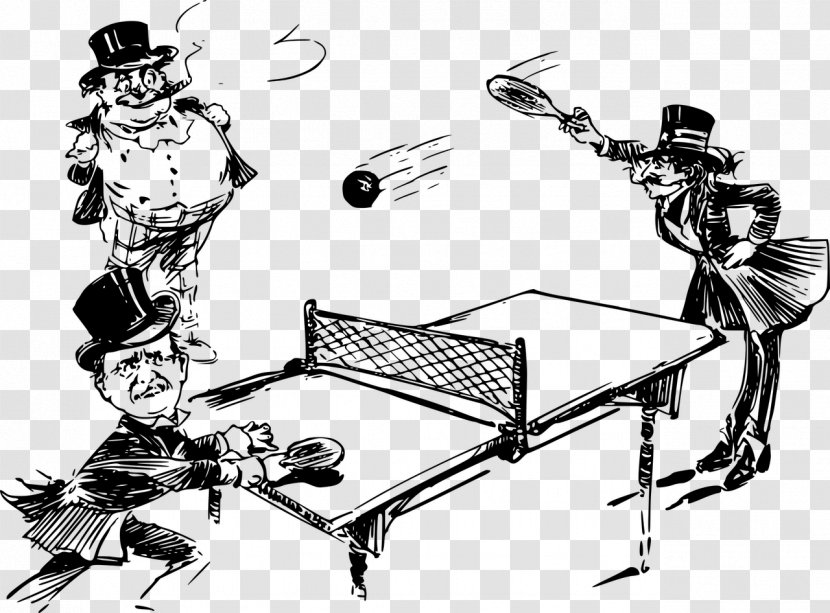 Table Ping Pong Paddles & Sets Pingpongbal Tennis - Monochrome Photography Transparent PNG