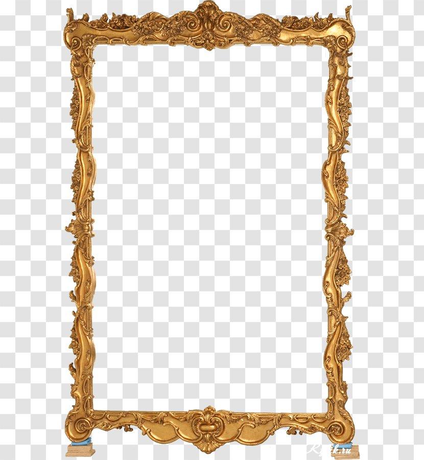 Picture Frame Mirror Clip Art Gold Transparent Png