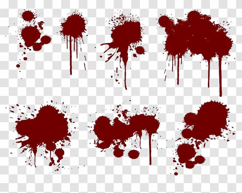 Splatter Film Paint Splash Ink - Crimson Blood Transparent PNG