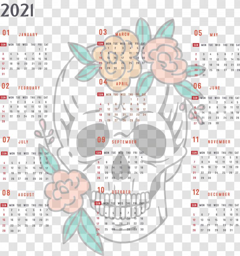 Year 2021 Calendar Printable 2021 Yearly Calendar 2021 Full Year Calendar Transparent PNG