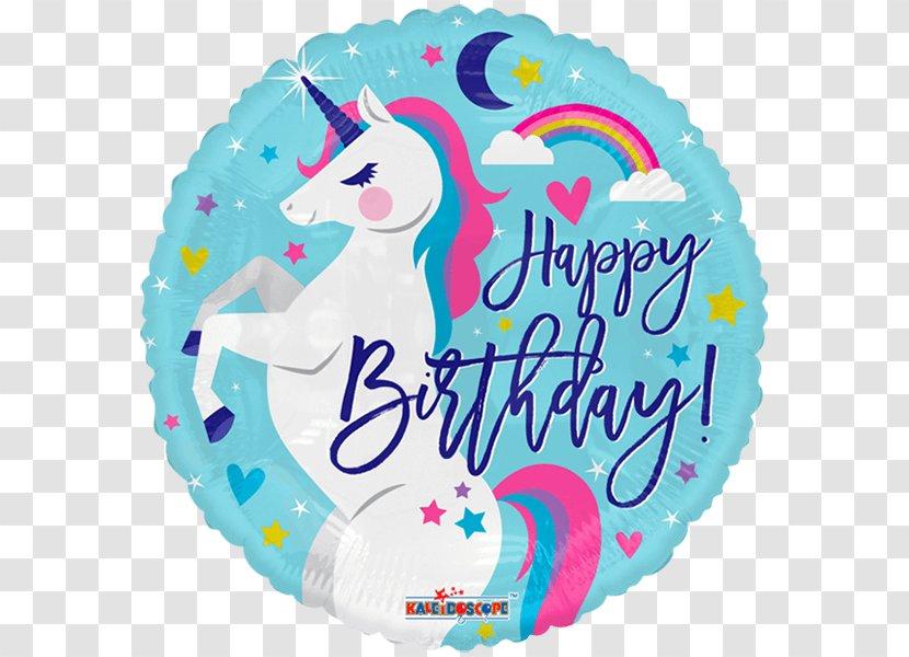 Mylar Balloon Birthday Party Toy - Child - Unicorn Transparent PNG