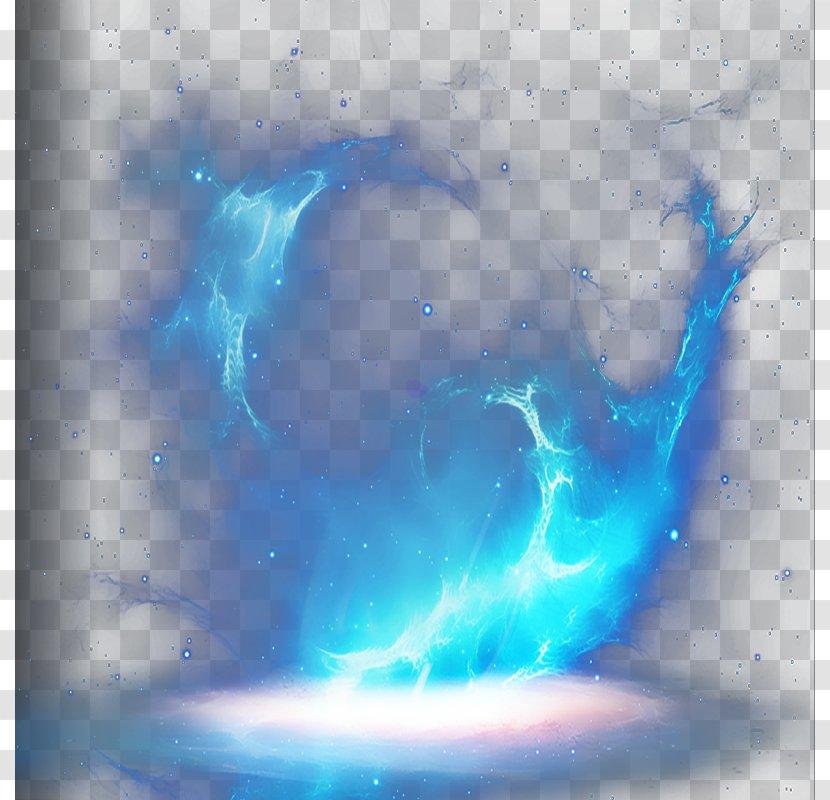 Light Flame Fire Heart Blue Transparent Png