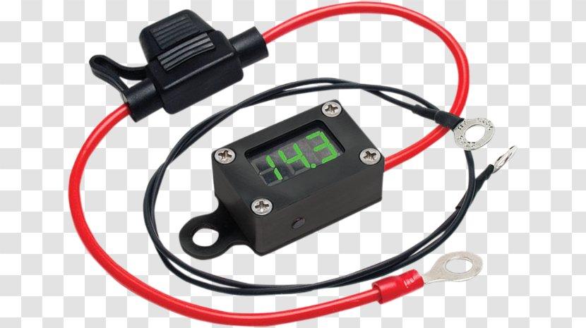 Electronic Component Multimeter Voltmeter Electronics Motorcycle Volt Battery Cable Transparent Png