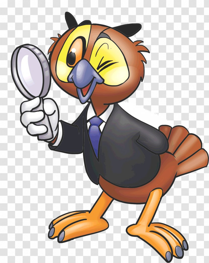 Owl Magnifying Glass Beak Coals To Newcastle Clip Art Forensic Science Transparent Png