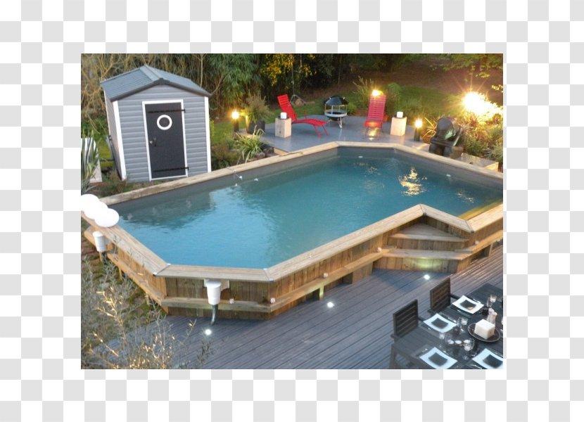 Hot Tub Piscine En Bois Swimming Pool Castorama Wood Piscine Transparent Png