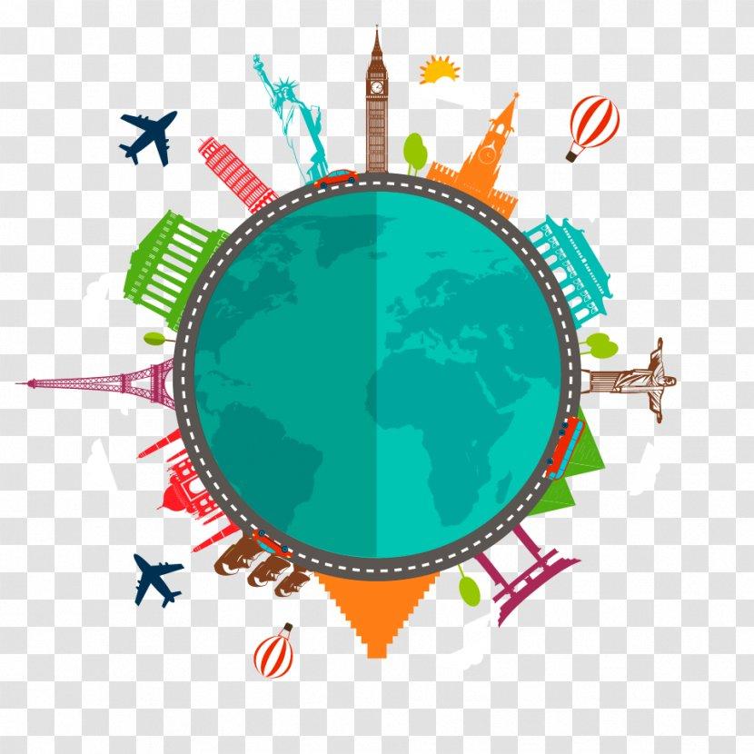 Infographic Travel Clip Art - Flat Design Transparent PNG