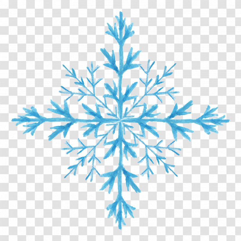 Snowflake Download - Hand-painted Watercolor Pattern Material Transparent PNG