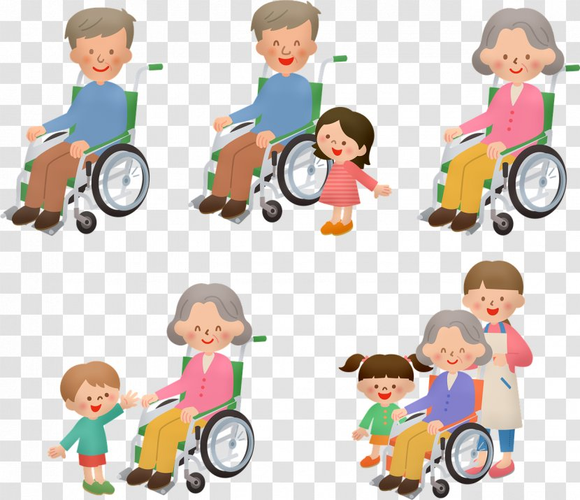 Kids Playing Cartoon - Job - Bicycle Wheel Riding Toy Transparent PNG