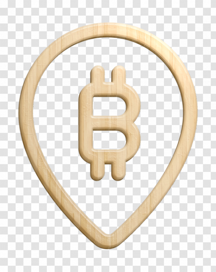 Pin Icon Bitcoin Icon Maps And Location Icon Transparent PNG