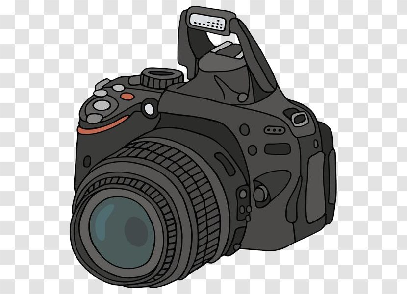 Camera Photography Drawing Cartoon Digital Slr Simple Transparent Png