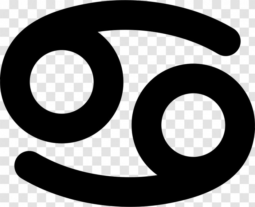 Monochrome Photography Black And White Logo - Cancer Symbol Transparent PNG