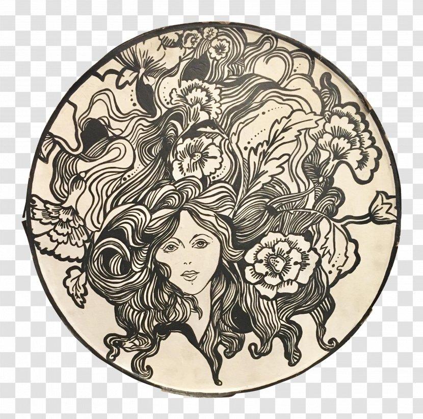 - Drawing Art Nouveau Animal Designs Coloring Book Visual Arts Illustration  Painting - Black Transparent PNG
