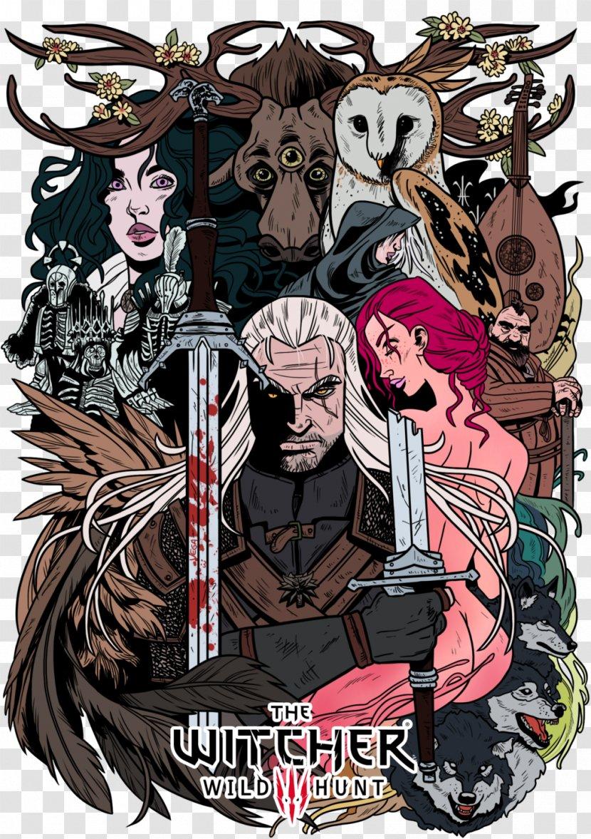 The Witcher 3 Wild Hunt Geralt Of Rivia Fan Art Triss Merigold Comic Book Birthday Wish