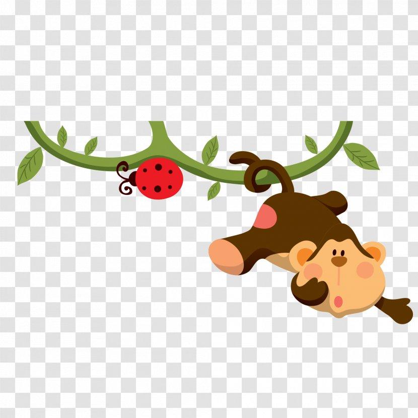 Baby Jungle Animals Cartoon Infant Clip Art - Reindeer - Creative Monkey Pictures Transparent PNG