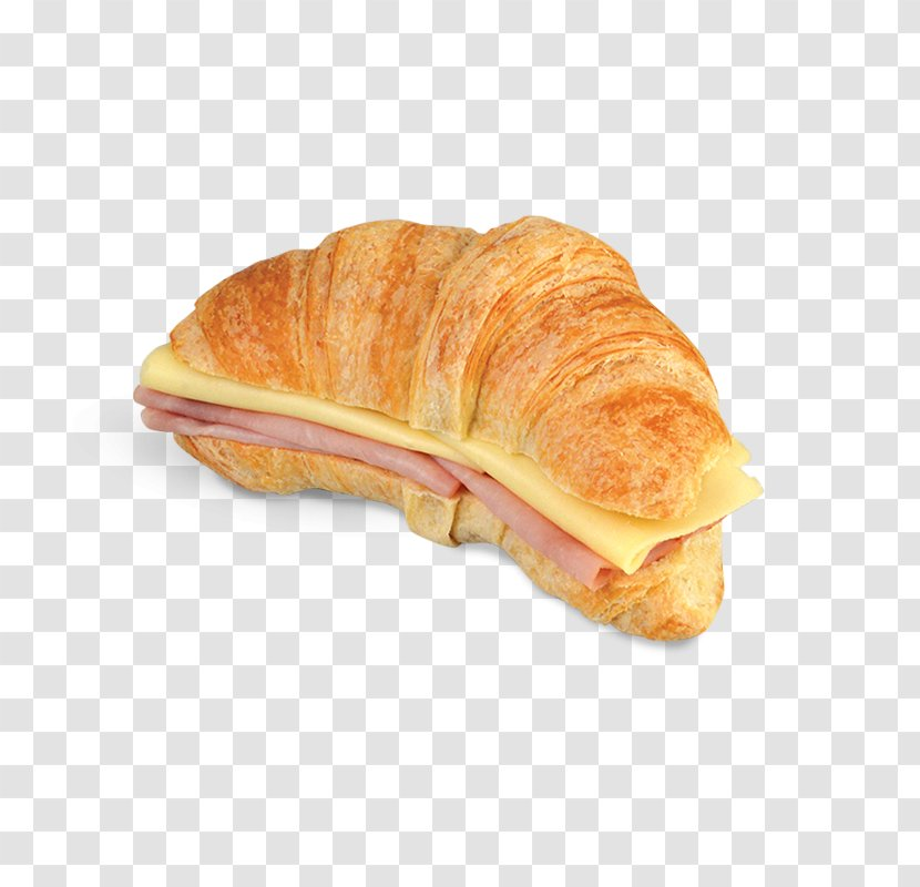 Croissant Breakfast Sandwich Menu Ham And Cheese - Sausage Roll Transparent PNG