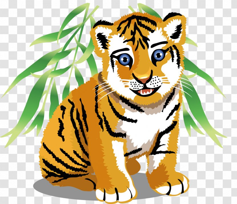Baby Jungle Animals Tiger Clip Art - Terrestrial Animal - ANIMAl Transparent PNG