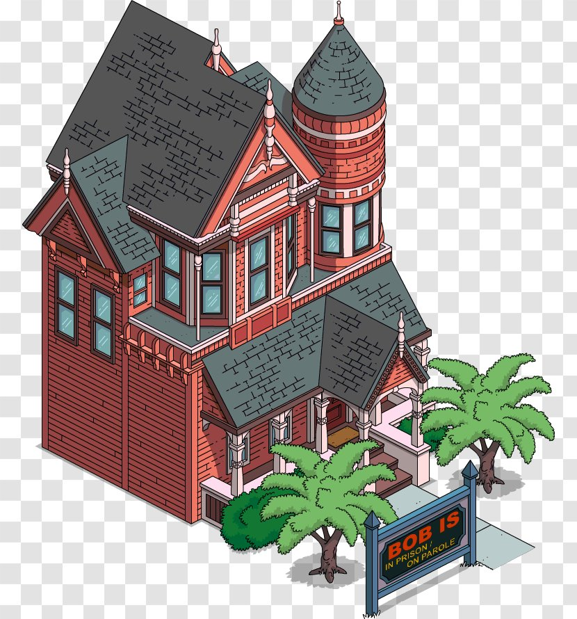 The Simpsons Tapped Out Sideshow Bob House Victorian Era Building Simpsons Movie Transparent Png