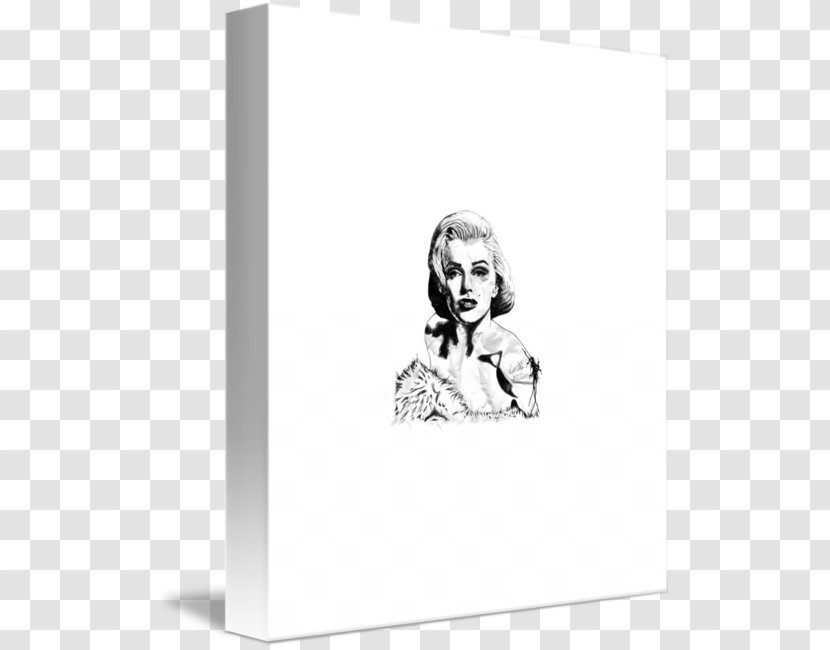 Monochrome Photography Black And White Drawing - Marilyn Monroe Transparent PNG