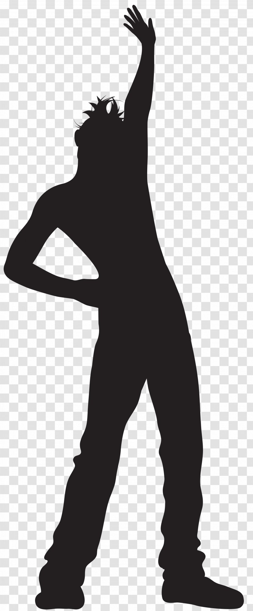 Silhouette Dance Clip Art Black And White Man Dancing Cliparts Transparent Png