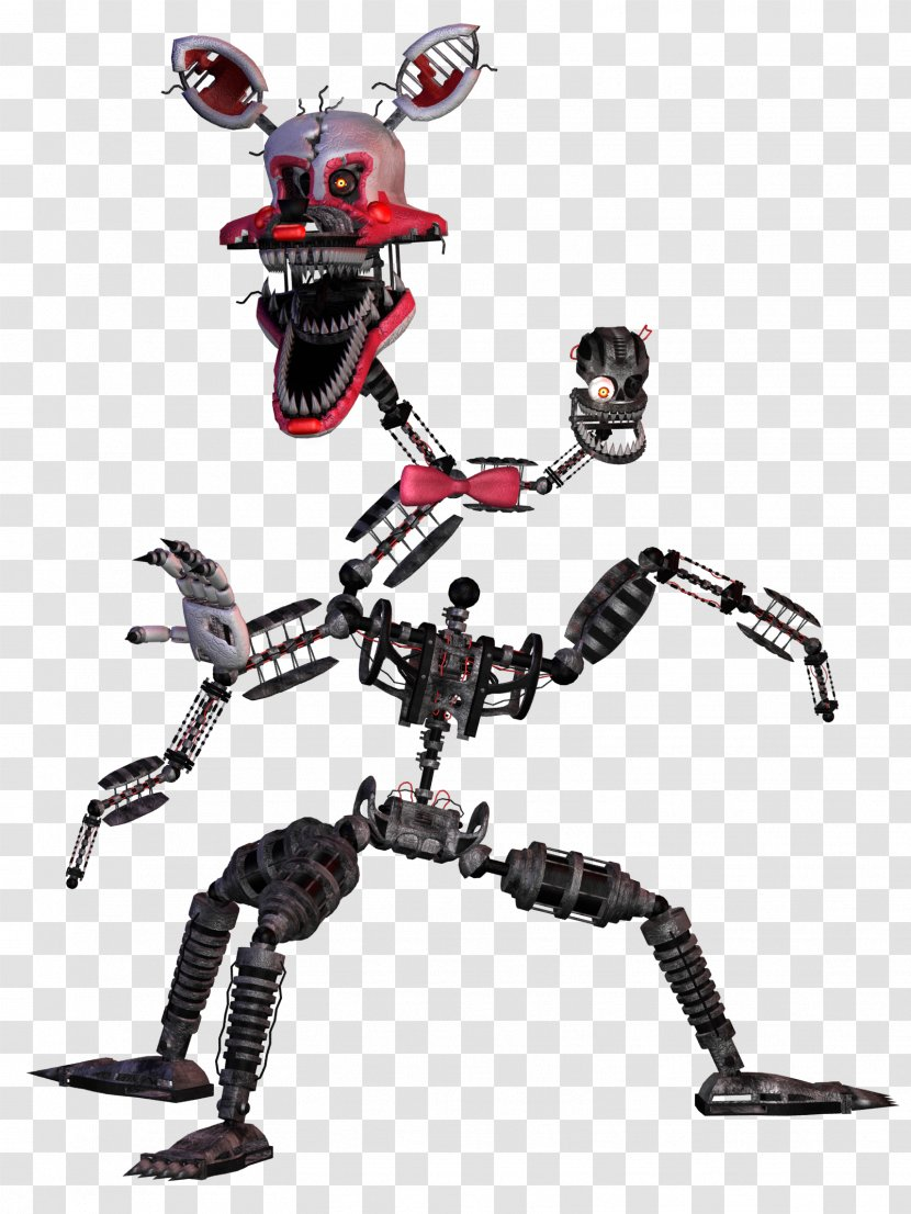 Five Nights At Freddy S 2 4 3 Mangle Robot Nightmare Foxy Transparent Png