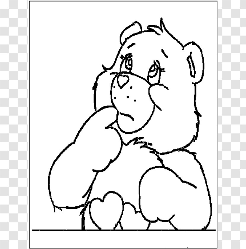 - Love-A-Lot Bear Funshine Care Bears Coloring Book - Silhouette - Cheer  Images Free Transparent PNG