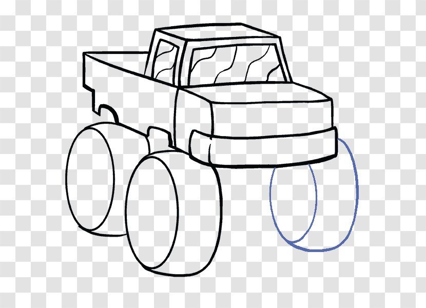 Car Drawing Monster Truck Hand Transparent Png