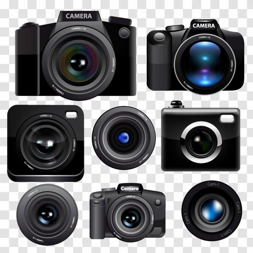 Camera Lens Photography Cinematography Digital A Variety Of And Background Image Transparent Png