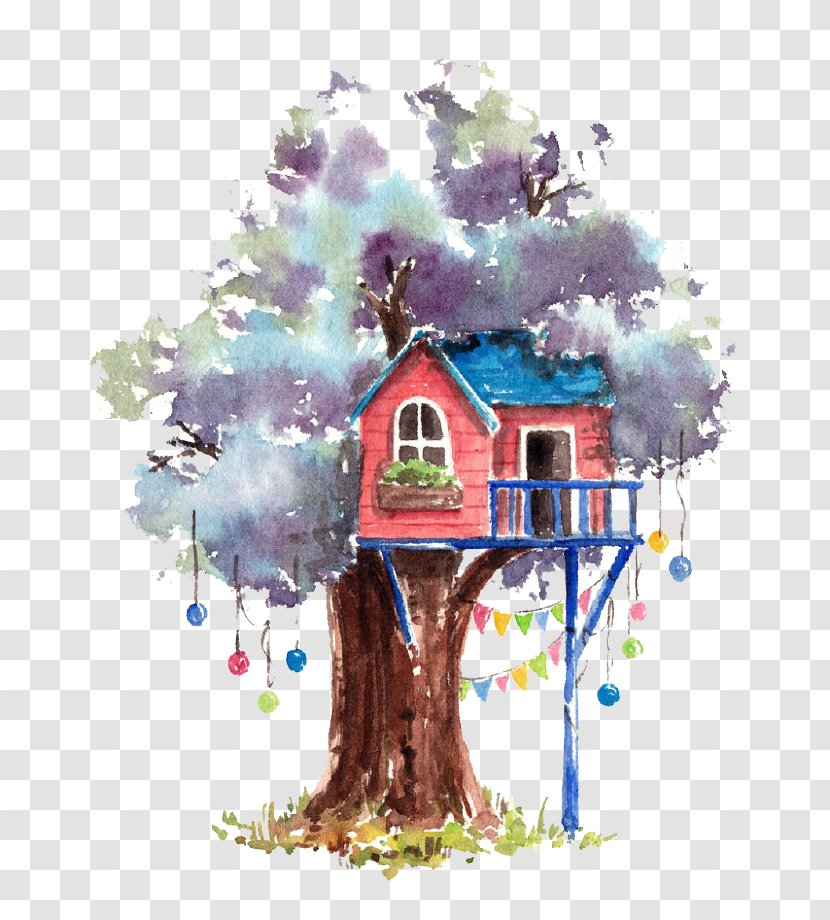 Watercolor Painting Tree House Creative Arts Cartoon Transparent Png Transparent Png A wide variety of cartoon tree painting options are. watercolor painting tree house