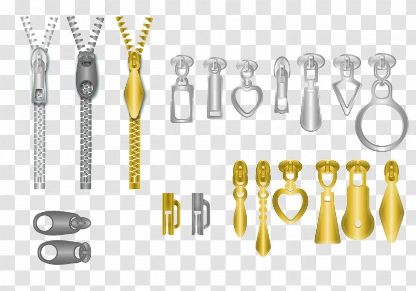 Zipper Illustration - Brand - Creative Vector Metallic Transparent PNG