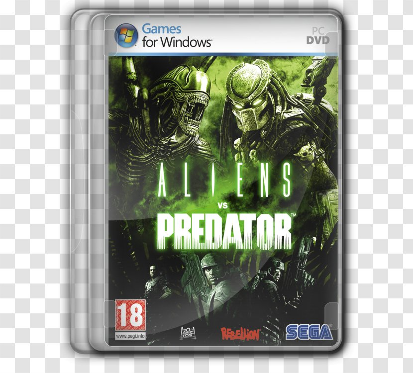 Aliens Vs. Predator Xbox 360 Versus 2 - Video Game Transparent PNG