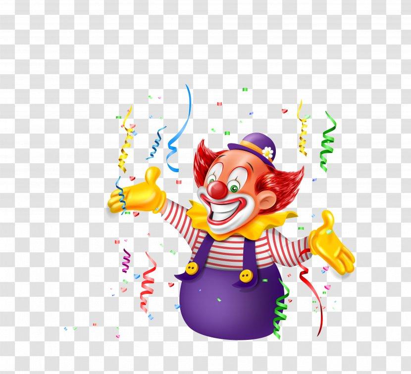 Joker Clown Cartoon - Vector Color Ribbon Decoration Man Transparent PNG