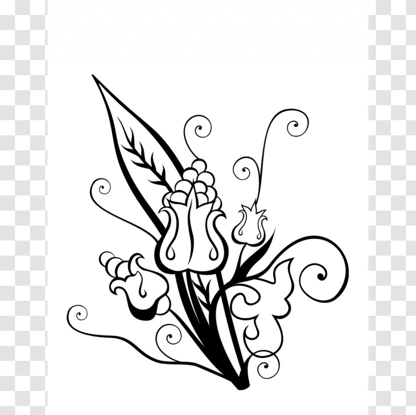 Flower Bouquet Drawing Coloring Book Clip Art White Hibiscus Clipart Transparent Png