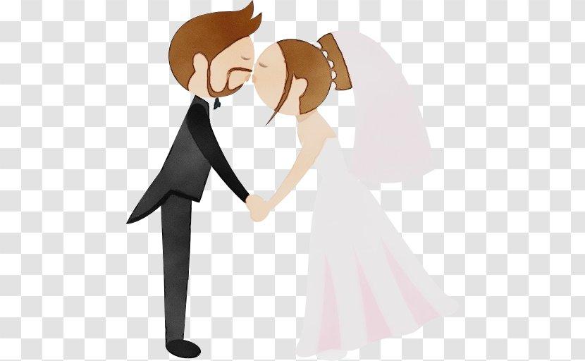 Bride And Groom Cartoon - Gesture - Art Smile Transparent PNG