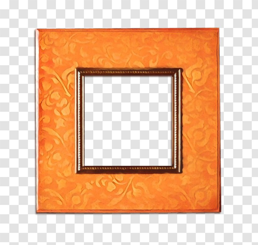 Wood Frame - Yellow - Picture Transparent PNG