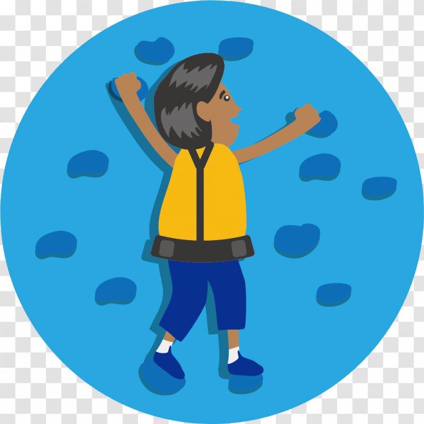 Blue Climb Logo Rock Climbing Cartoon Transparent Png