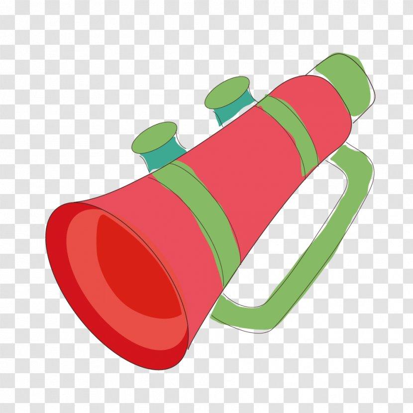euclidean vector loudspeaker illustration red megaphone transparent png pnghut