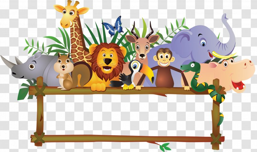 Baby Jungle Animals Royalty-free Clip Art - Comics - Farm Transparent PNG